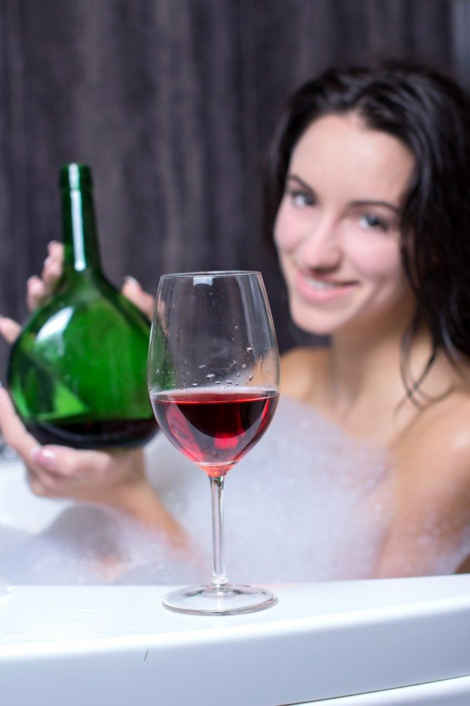red wine bath
