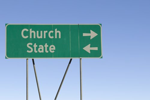 Church non-profit status violates the separation of church and state