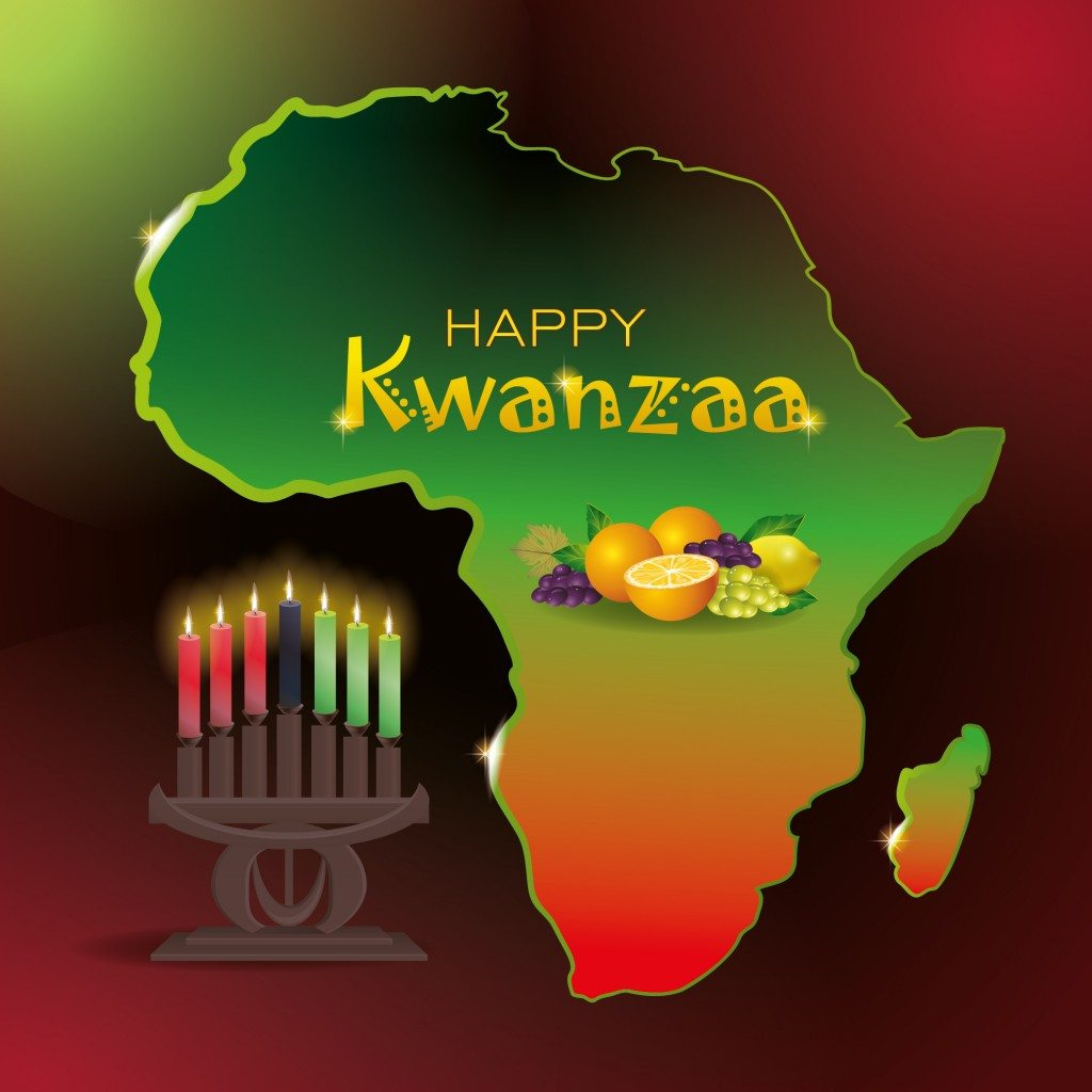 Kwanzaa has 3 Official Colors Green, Red, and Black.
