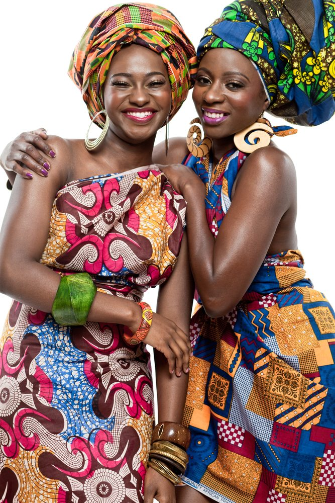 Traditional Garb Is Appropriate on Kwanzaa. Doesn't hurt if you're a hottie like these two fine ladies.