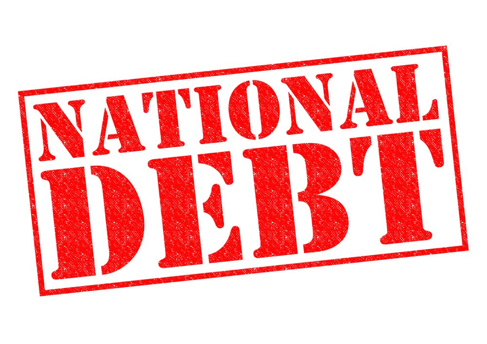 During President Reagan's terms the national debt tripled