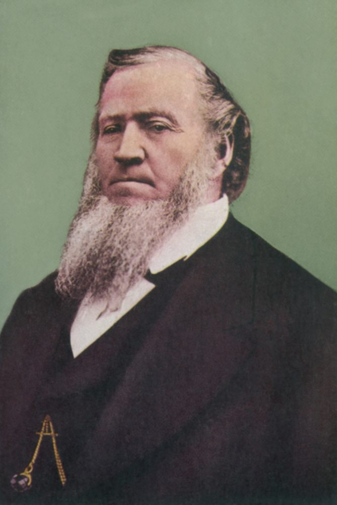 War between the Mormon Church and the U.S. Government was averted only when Brigham Young stepped down as Governor