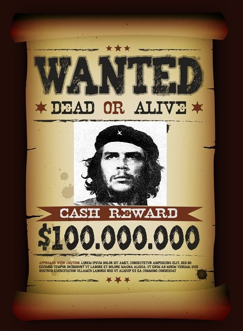 A bounty was placed on Che Guevara's head