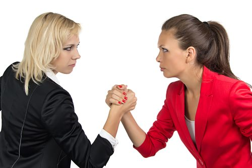 Woman vs. Woman. You've gotta have brains, beauty, and money to get a boyfriend. Yep, just a boyfriend. Not even a husband.  What the f.