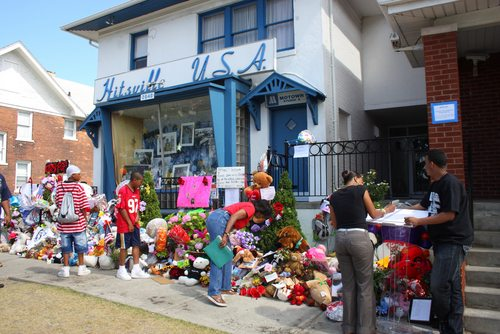 Fans gathered to commemorate Michael Jackson following his untimely death