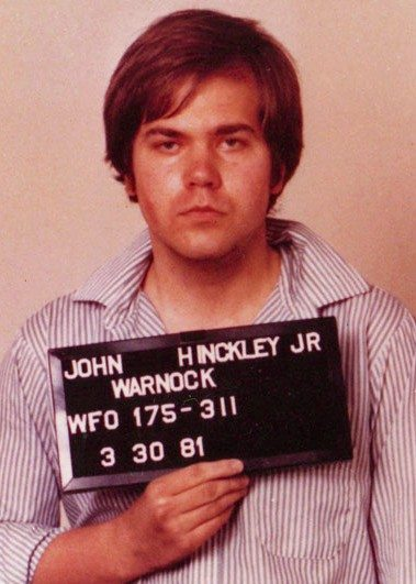 John Hinckley Jr. The ole insanity defense worked this time. Of course he looks crazy as hell.