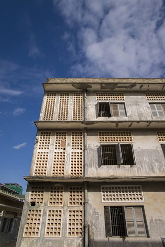A high school was converted into S-21. One of the most notorious torture chambers of the Cambodian Genocidev