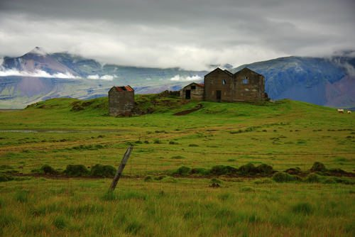 An abandoned farm in Iceland. Probably a Viking farm.