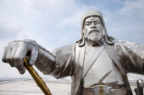 Statue of Ghengis Khan, a true rags to riches story