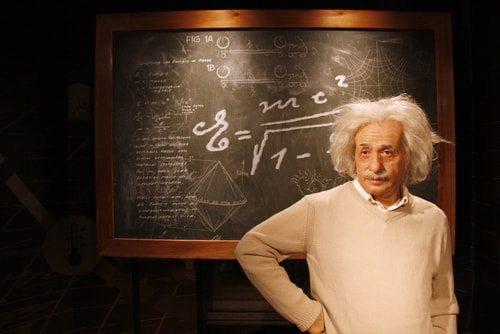 Albert Einstein.  Not a big talker at first