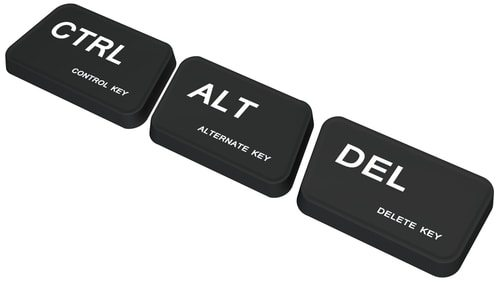 Control alt delete was a mistake.  But it's so handy.