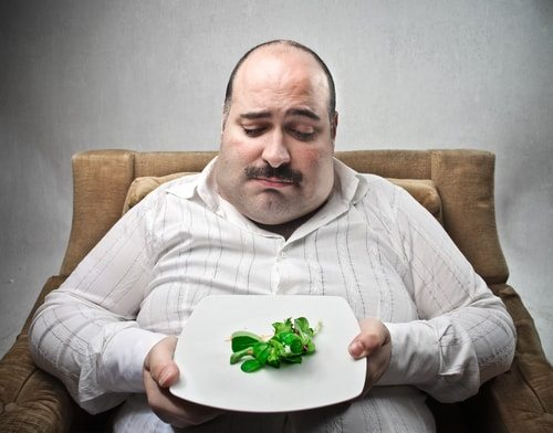 Poor sad fat man.  Even being vegan isn't a sure fire cure to obesity.  I don't believe this one