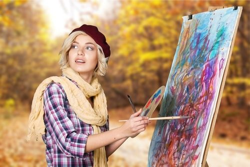 Try paiting to distract yourself