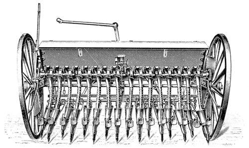 The Seed Drill improved farming dramatically.