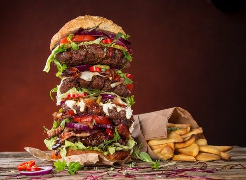 You might always be hungry because your portions are outsized!