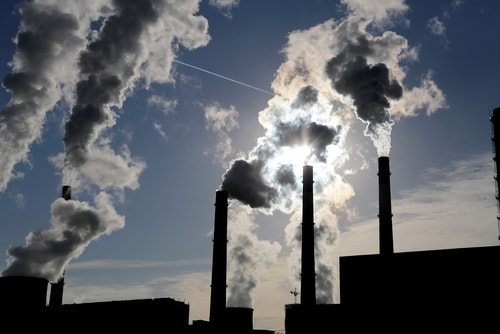 Coal fired power plants polluting our air.