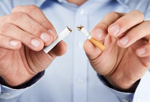 Cut the smokes to naturally lower your blood pressure.