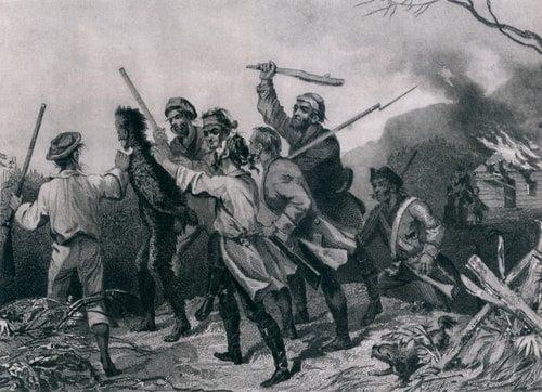 George Washington crushed the whiskey rebellion