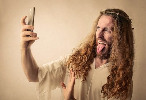 Despite the New Testament's inconsistencies, like Jesus's selfie above, Jesus still existed.