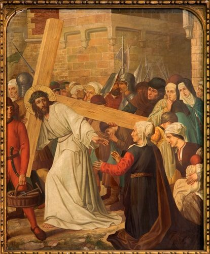The Eighth Station of the Cross, Jesus meets the ladies in Jerusalem.