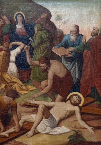 The Eleventh Station of the Cross, Jesus is Nailed to the Cross.