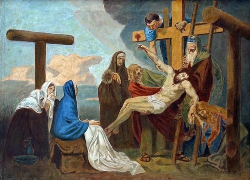The Thirteenth Station of the Cross, Jesus is removed from the Cross