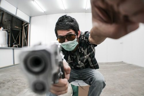 Mass shooters play violent video games.