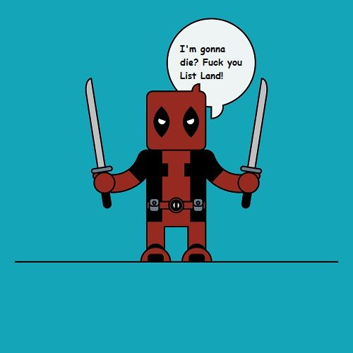 Deadpool. Watch your potty mouth!
