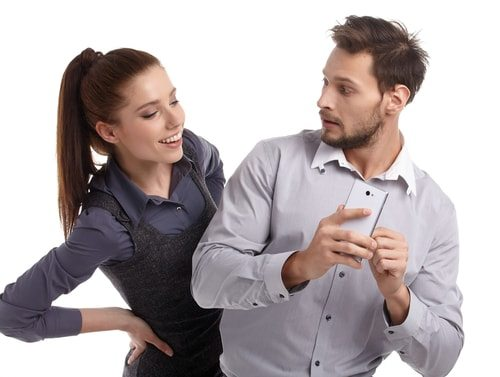 If he's ultra-secretive about his technology, he might be cheating on you!