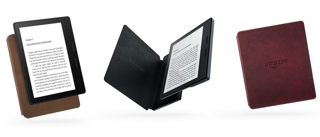 The Kindle Oasis has a charging cover. Cool!