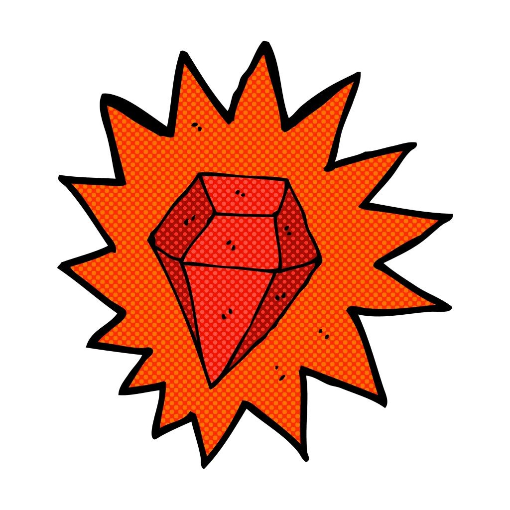 The easiest way to be a mutant besides being born a mutant is to get your grubby mits on a magic ruby!