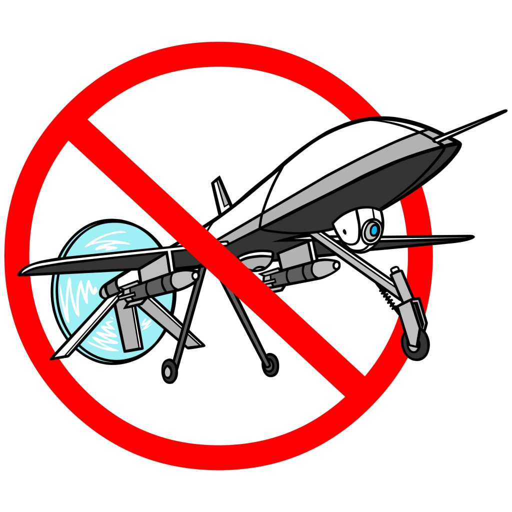 Drones should be banned because they disguise human rights abuses.