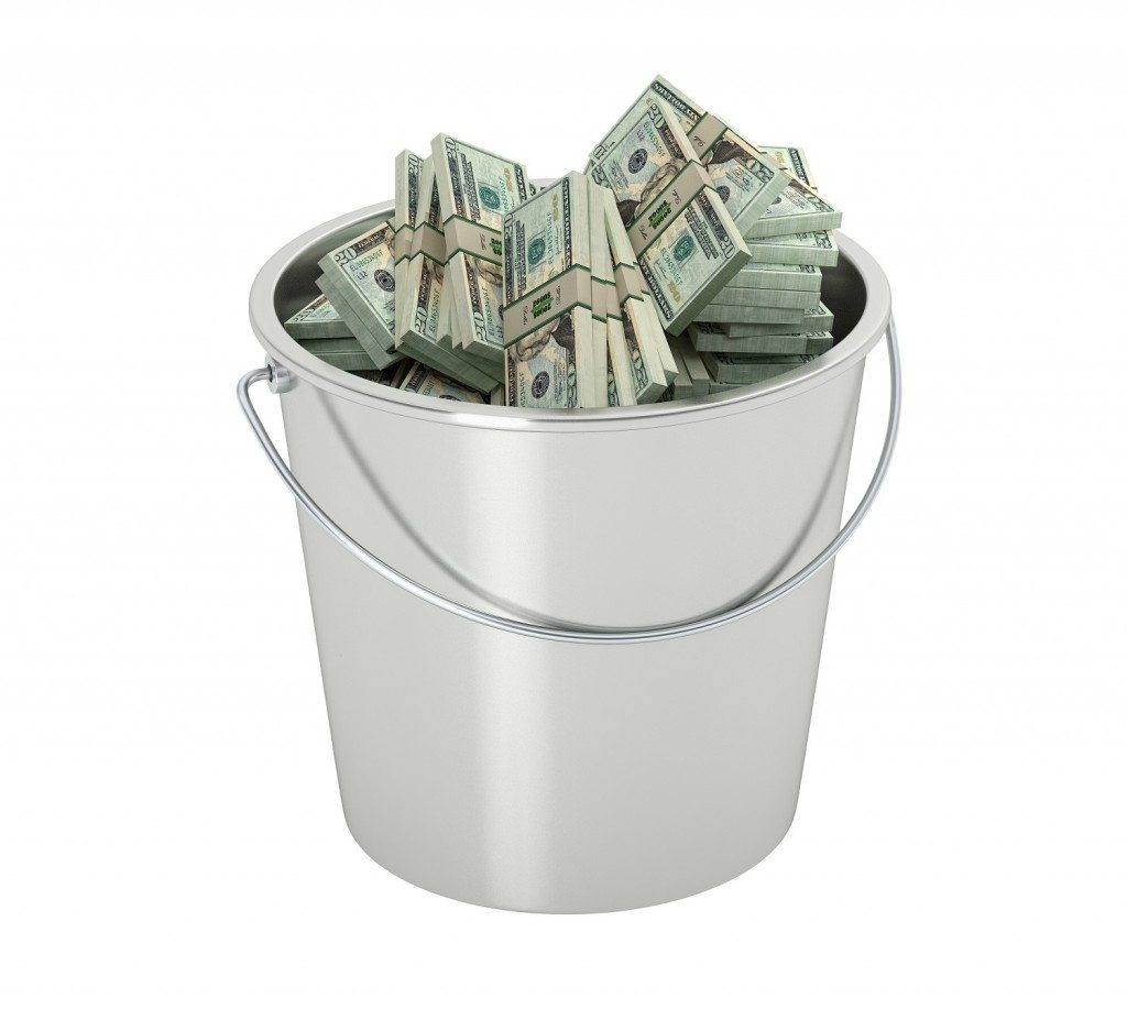 A Bucket of Money for Your Troubles