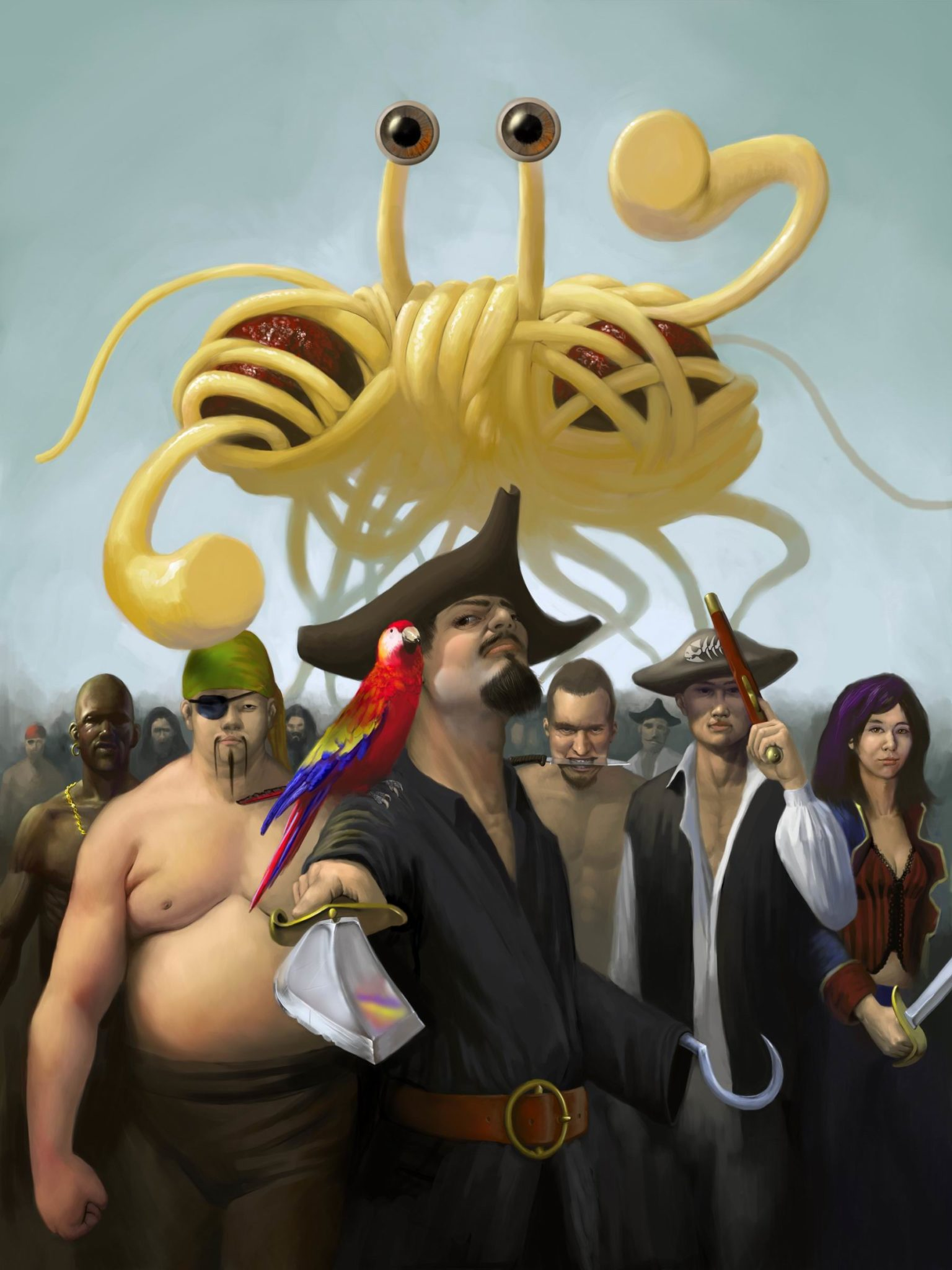 The Flying Spaghetti Monsters Top 10 Reasons To Become A Pastafarian For Example Look At This Crazy Monster Diagram 3every Friday Is Religious Holiday Church Of