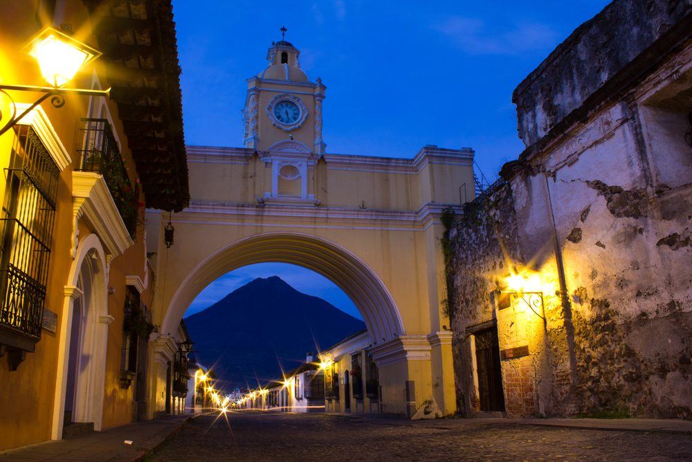 Che Guevara got his start in Guatemala.  Antigua, Guatemala pictured