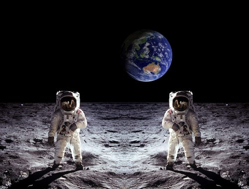 The moon landing.  Totally faked.
