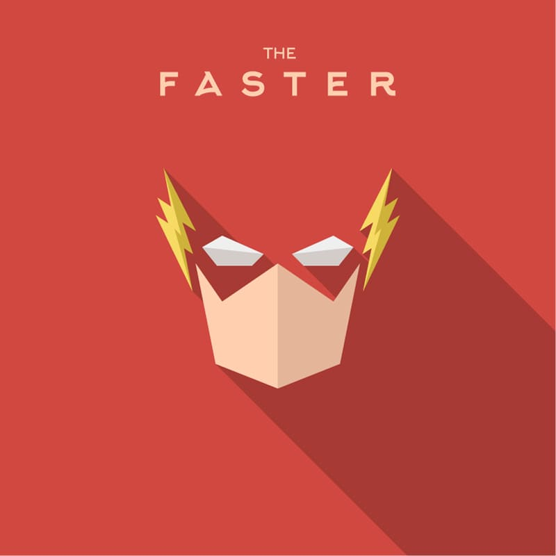 The Flash. The fastest, therefore, the strongest and most powerful superhero of all time.