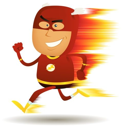 The Flash's suit protects him from Friction