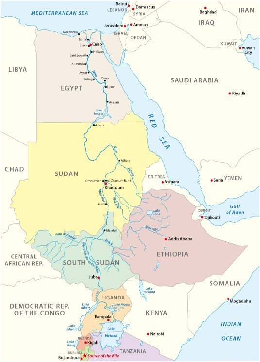 Civilization flourished along the Nile for eons.
