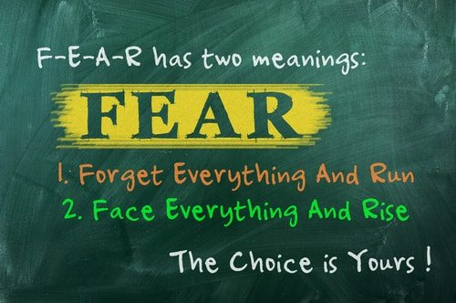 You have nothing to fear but fear itself.  And apparently some of you do just that.