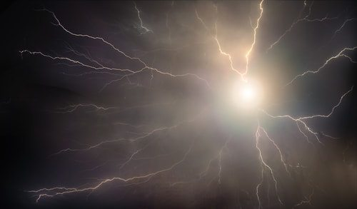 Ball lightning rendtion. Not to be confused with friggin UFO.