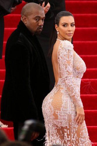 Kim Kardashian's famous booty. Whoa!