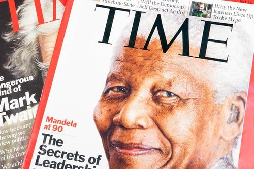 Yes that Time Magazine. The one that did stories on Nelson Mandela.