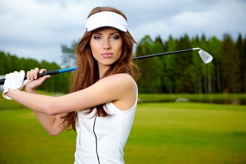 Bad B*tches Golf! No female competition on the golf course & guys who golf have enough money to waste a bunch on golf.