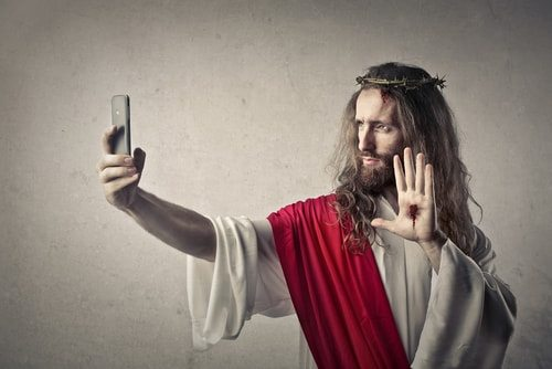 Jesus does not exist in the historical record. All we have is this selfie. Jesus Christ never existed.
