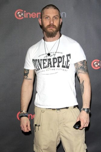 Tom Hardy has ink.