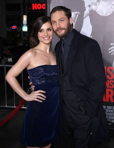 Tom Hardy with Charlotte Riley.