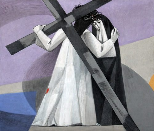 The Fourth Station of the Cross, Jesus meets his Mother Mary.
