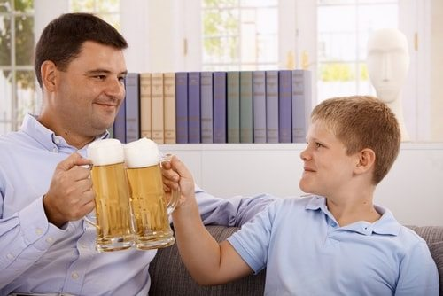 Drink with your Dad and get real glad.
