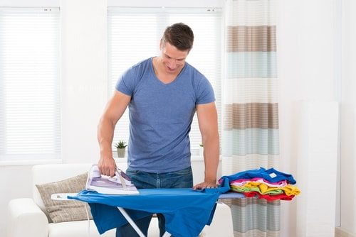 You love ironing. You have the board. Get busy.